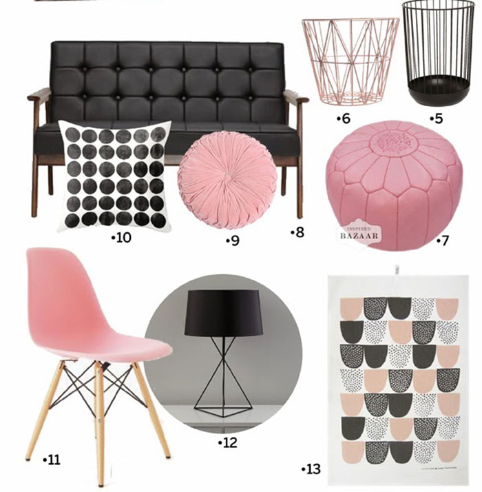 Pink and Black color combo and inspiration