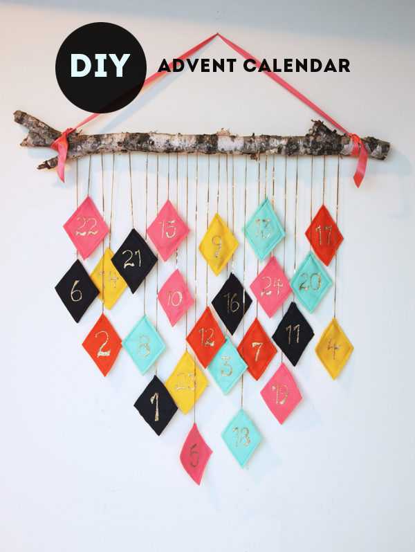 Christmas diy modern advent calendar for Diy christmas advent calendar ideas