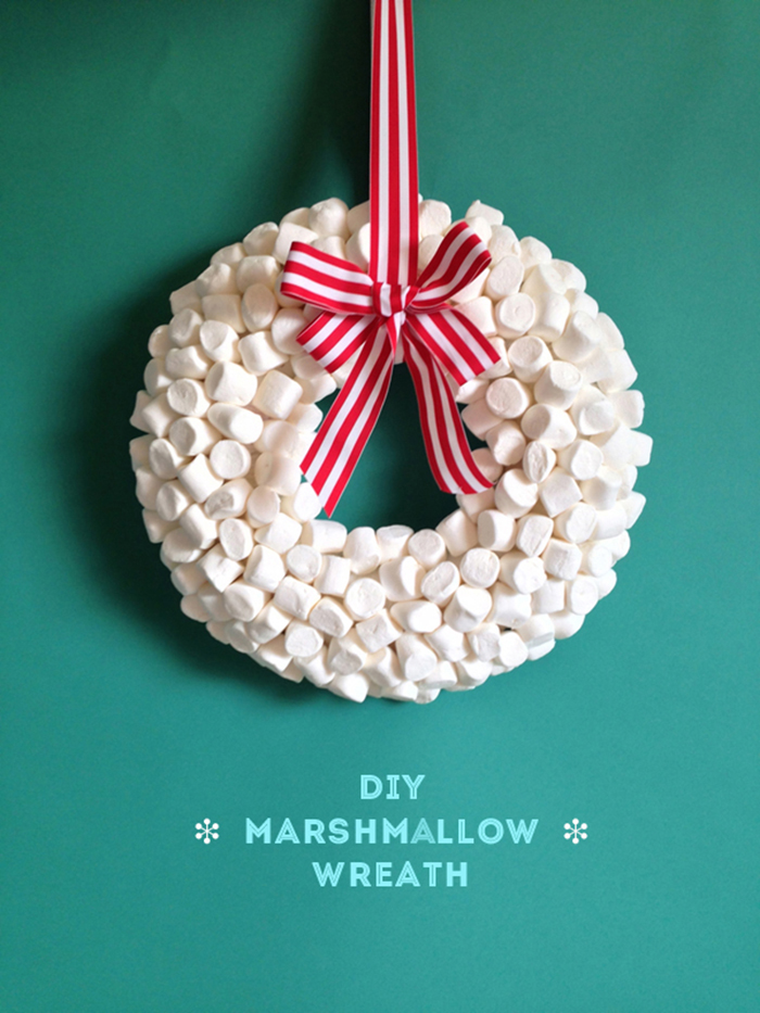 Holiday Diy Marshmallow Wreath The Sweet Escape