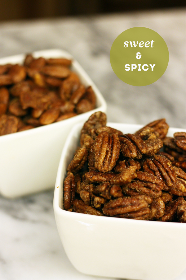 spicy sweet candied nuts