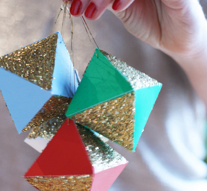 HOLIDAY DIY: geometric paper ornaments