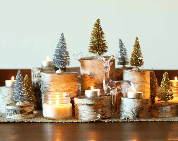 HOLIDAY DIY: naturally glamorous holiday centrepiece