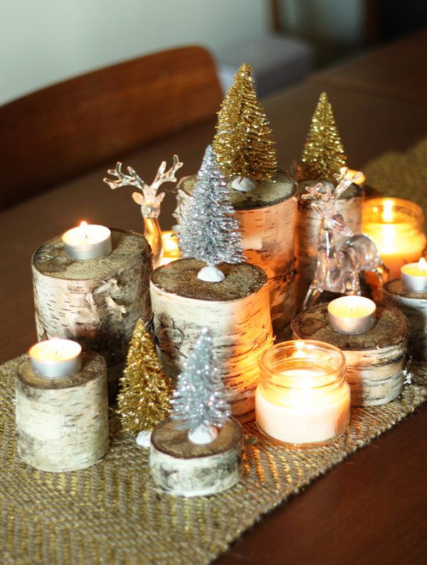 Holiday Diy Naturally Glamorous Holiday Centrepiece The