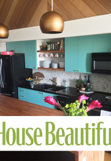 Vintage modern kitchen, kitchen makeover, loft, modern, house beautiful