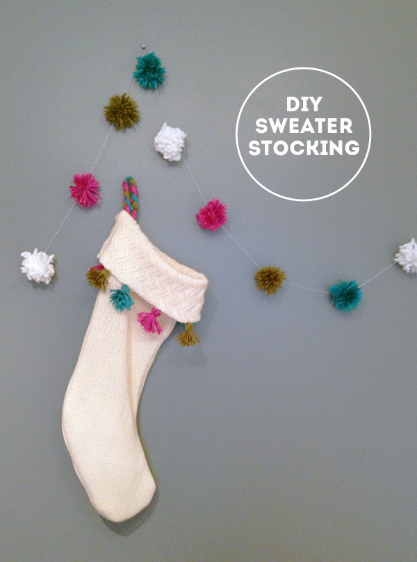 DIY Repurposed Sweater Stocking