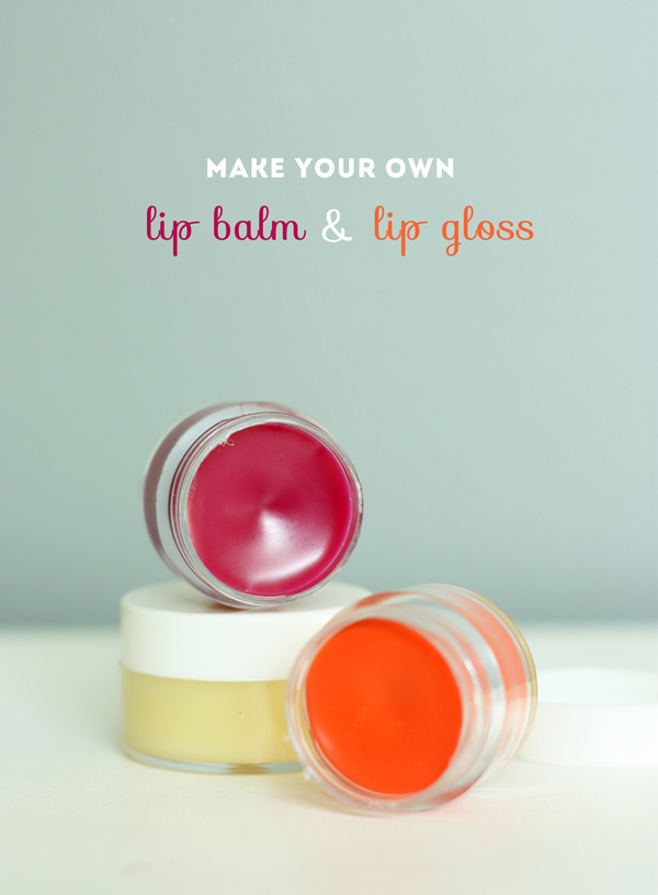 DIY lip gloss & lip balm / The Sweet Escape