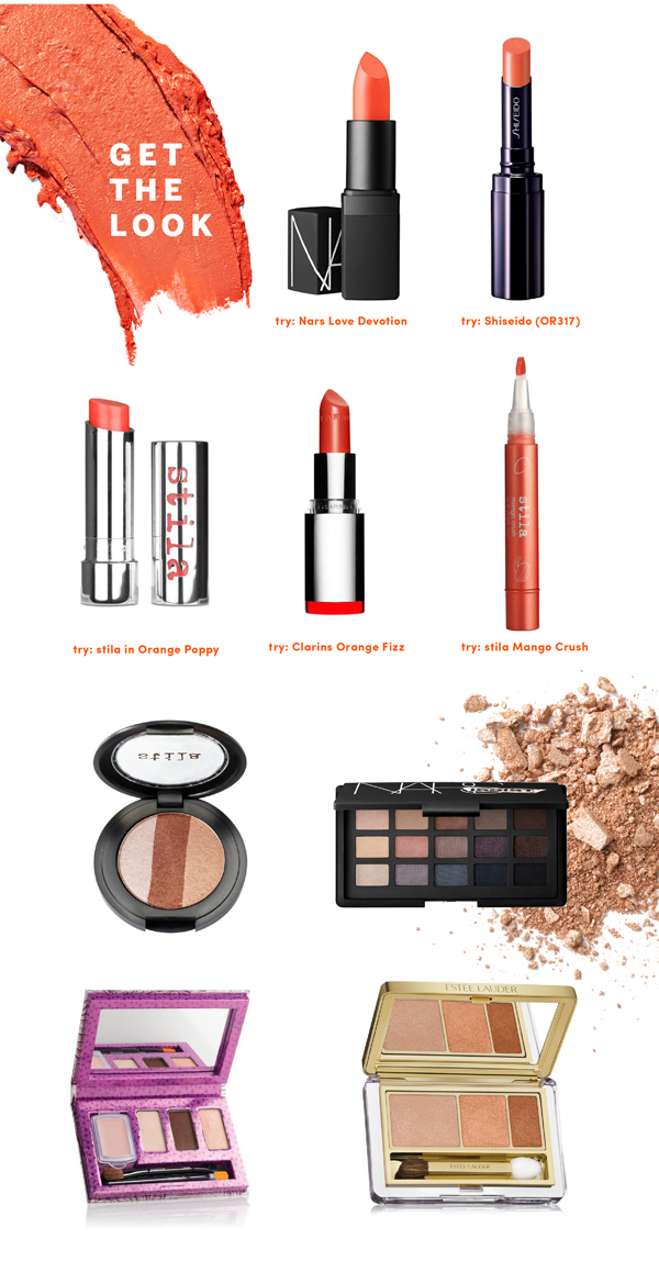 orange lipstick get the look