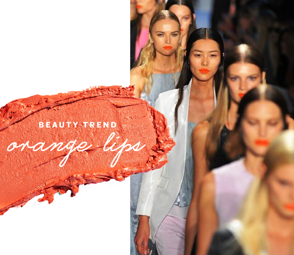 orange lipstick beauty trend