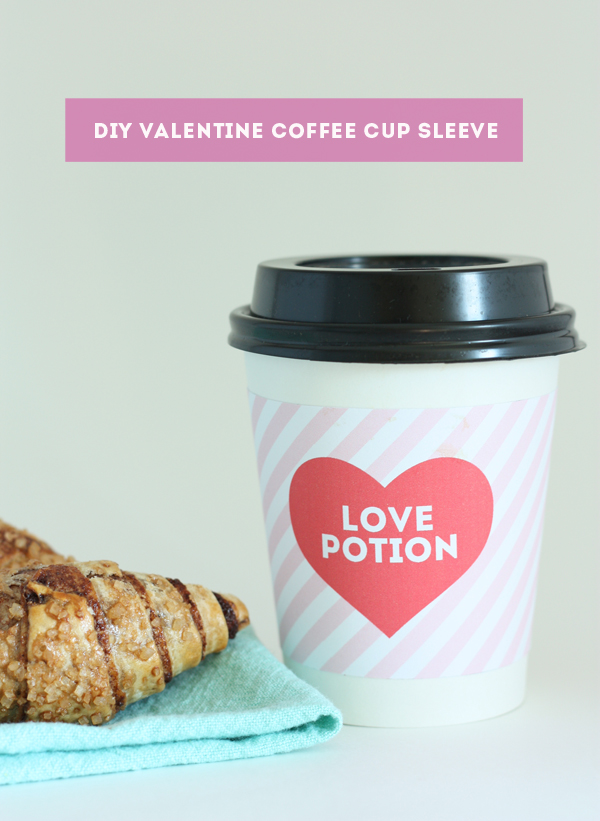 valentine coffee cup sleeve 1