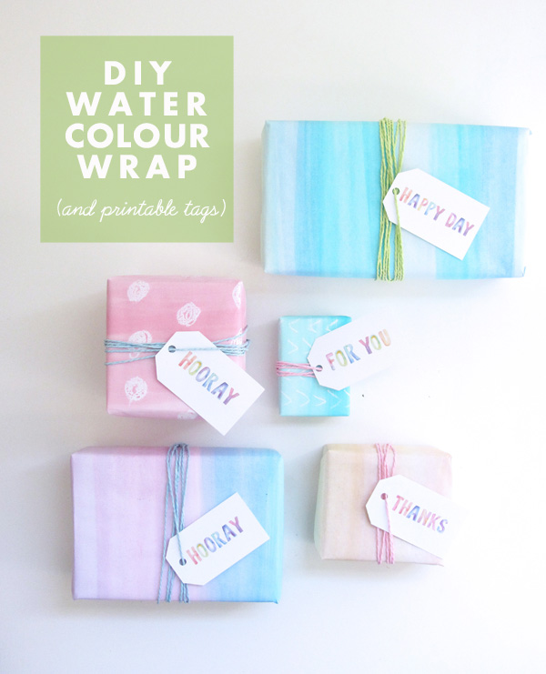 DIY watercolor wrap