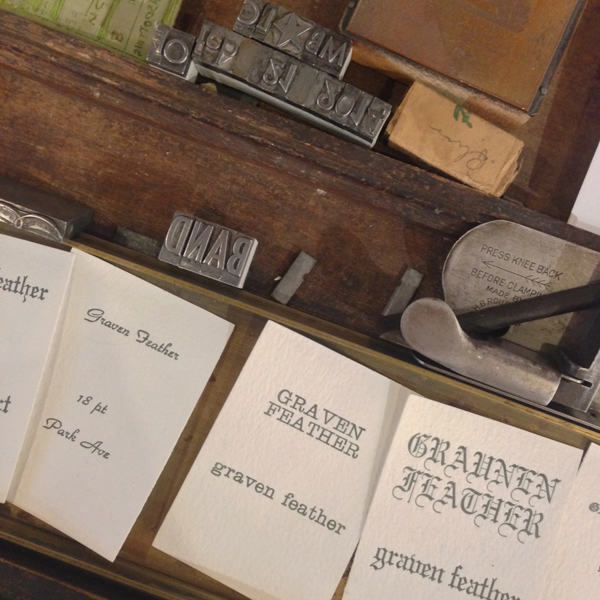 graven feather letterpress