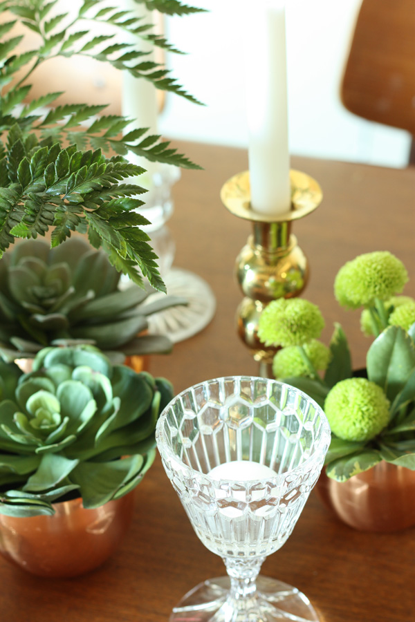 green vintage centerpiece 4