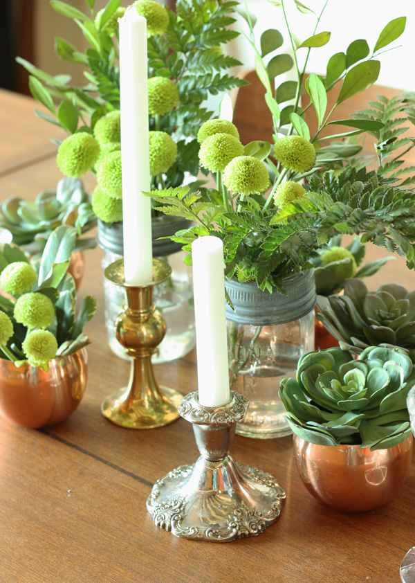 green vintage centerpiece 5
