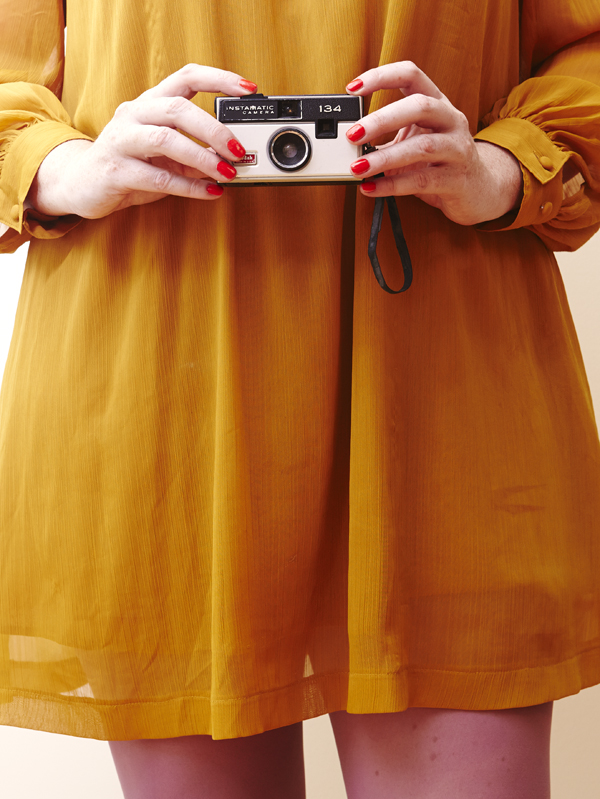 Vintage Camera dress photo series / The Sweet Escape