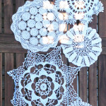 Recycled Doily Table Runner