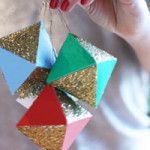 DIY paper geometric ornaments / THe Sweet Escape