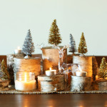 DIY holiday birch centerpiece / The Sweet Escape