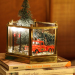 Holiday Scene Light Fixture Makeover