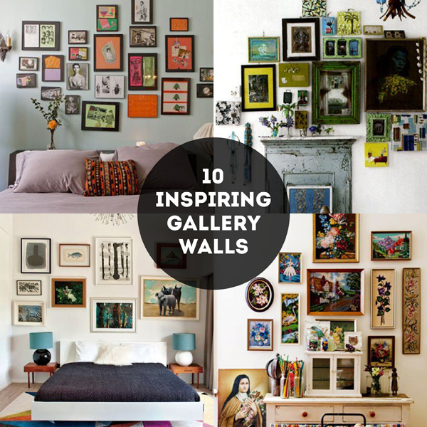10 Inspiring gallery walls / The Sweet Escape