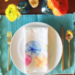 DIY marker tie-dye napkins / The Sweet Escape