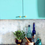 DIY marble kitchen tile backsplash