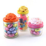 Easter DIY: Ribbon Rosette candy jars