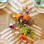 DIY table runner & centerpiece / The Sweet Escape