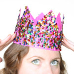 diy sequin party crown