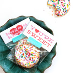 free printable Valentine labels / The Sweet Escape
