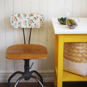 BEFORE & AFTER: an extra sweet vintage chair makeover