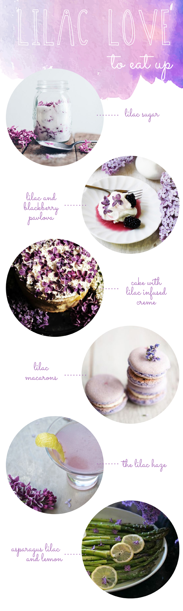 Recipes using lilac flowers / The Sweet Escape