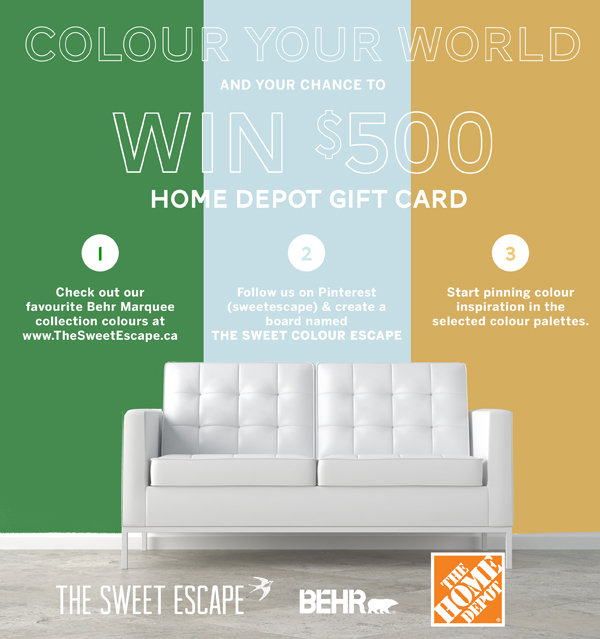 Home Depot $500 gift card giveaway / The Sweet Escape