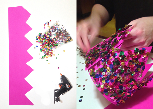 DIY sequin party crown / The Sweet Escape