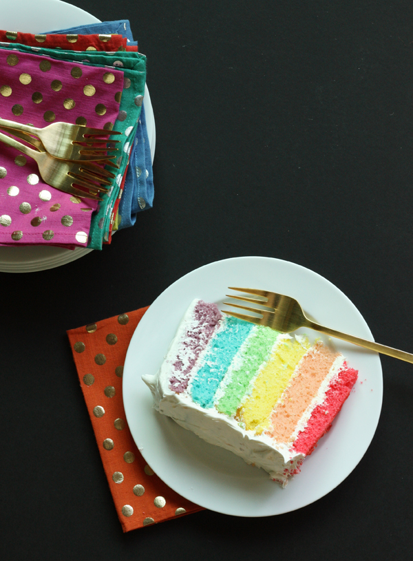 Rainbow Layer Cake Recipe / The Sweet Escape