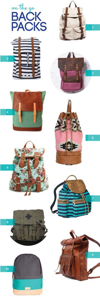 {SHOP: backpacks for an on the go summer}