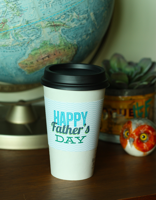 DIY: free printable coffee cup sleeve for dad / The Sweet Escape