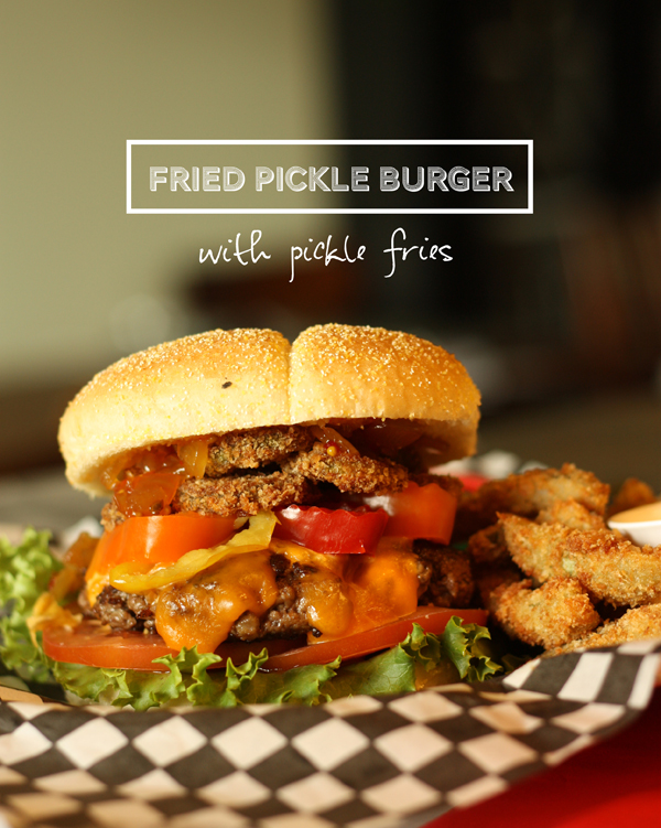 GOOD EATS: fried Bick's pickle burger + pickle fries - The Sweet ...
