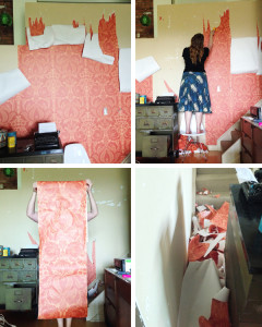 {BEFORE & AFTER: a wallpaper makeover}
