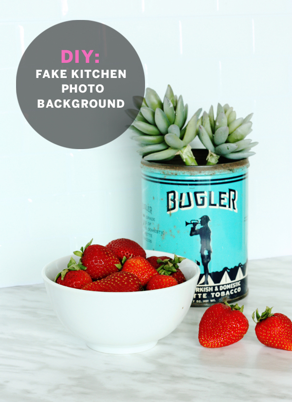 DIY: fake kitchen photo background / The Sweet Escape