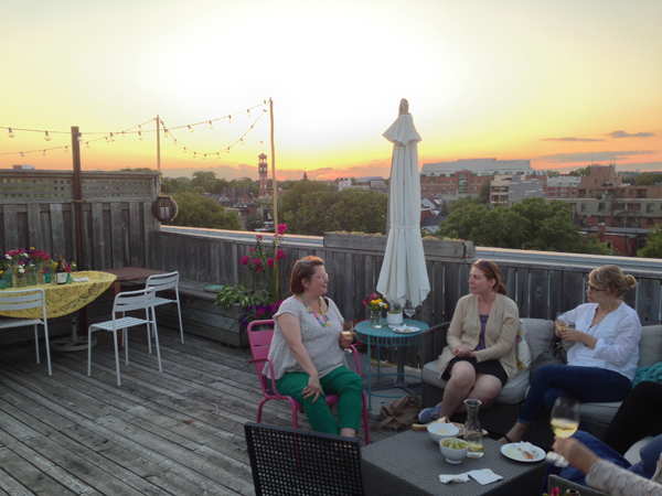Summer Wine & Dine on the rooftop patio / The Sweet Escape