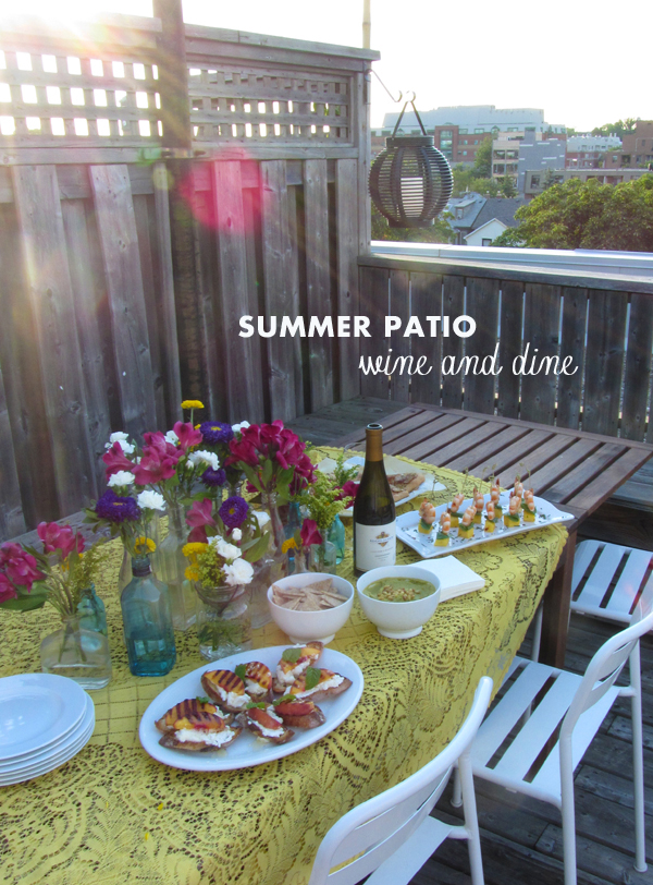 Summer wine & dine on the patio / The Sweet Escape