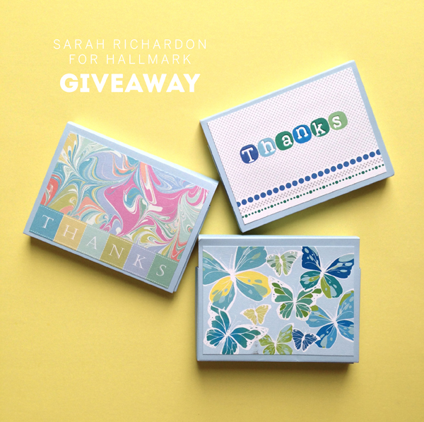 Sarah Richardson Stationary line/ Thank You card giveaway / The Sweet Escape