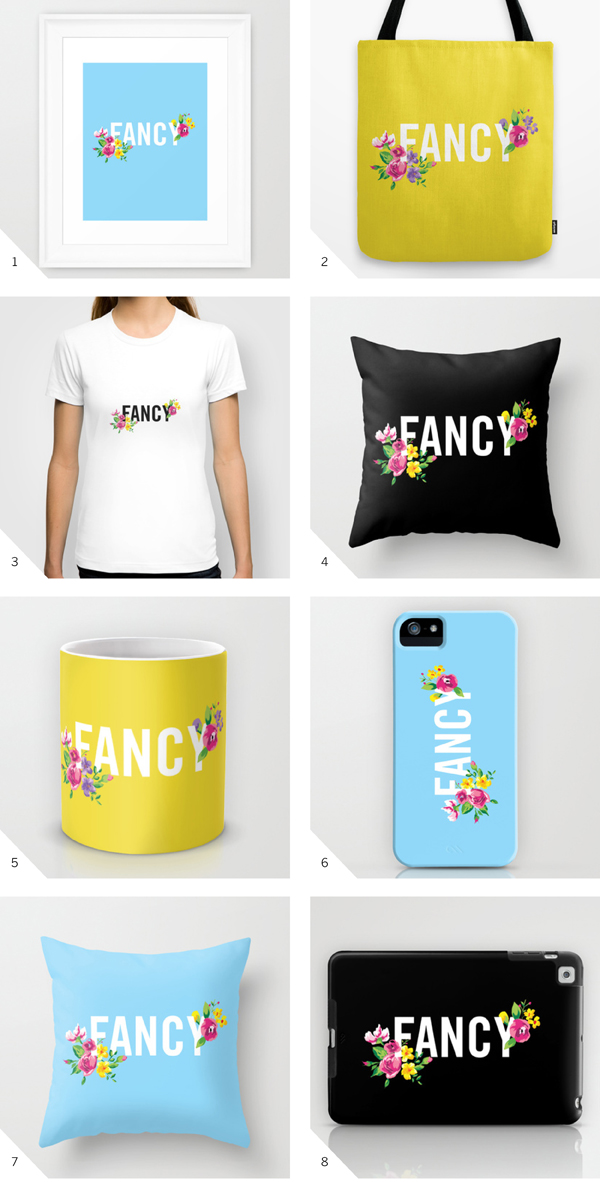 Fancy design on Society 6 by The Sweet Escape