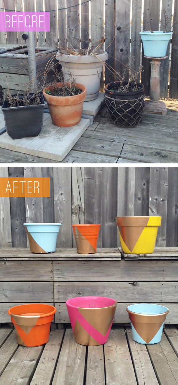 Patio Planter Makeover / The Sweet Escape