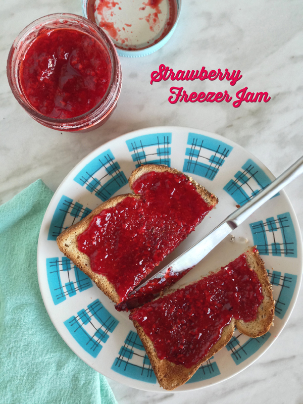 Strawberry Freezer Jam Recipe / The Sweet Escape