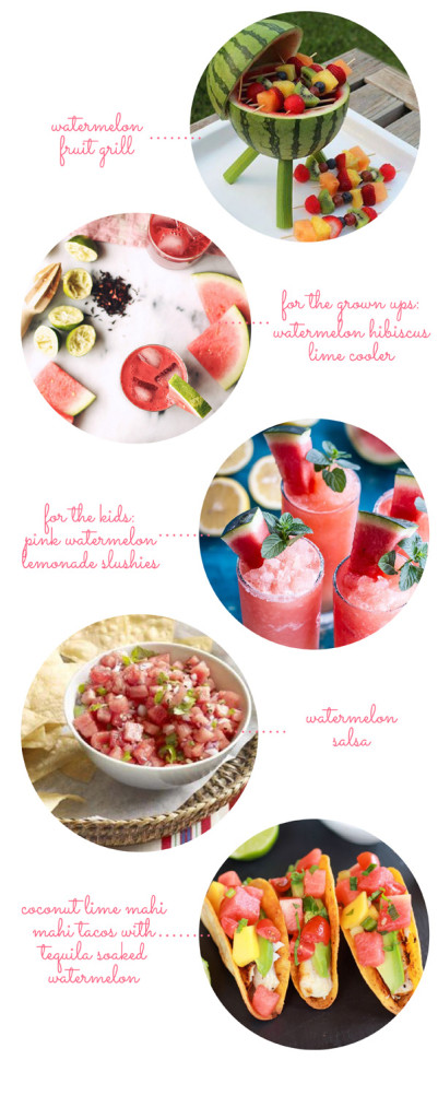 ENTERTAINING: summer watermelon themed party