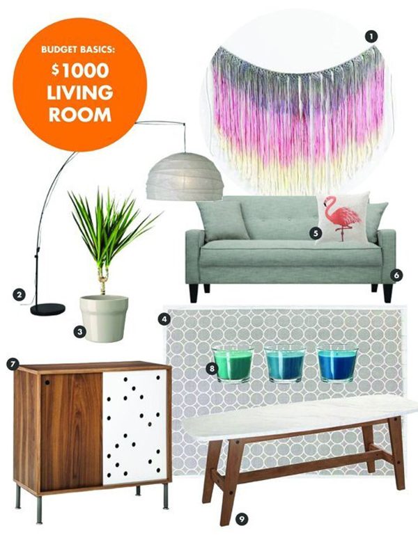 SPACES: living room or bedroom for under $1000