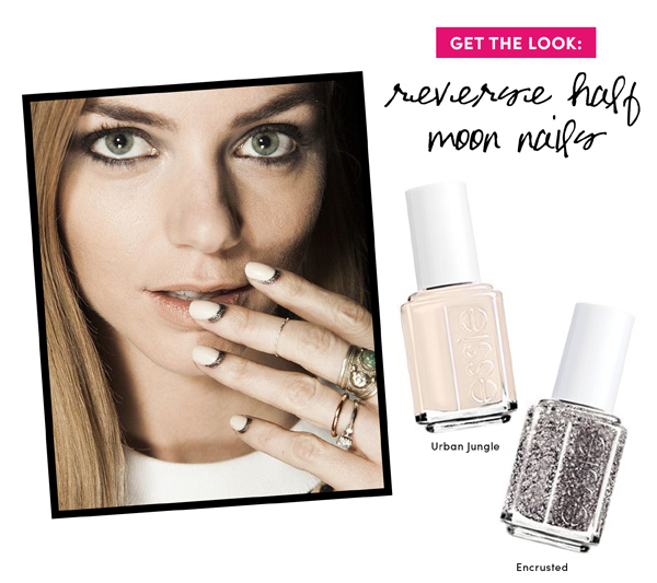 5 Fall Beauty Trends to Try: Reverse half moon mani /  The Sweet Escape