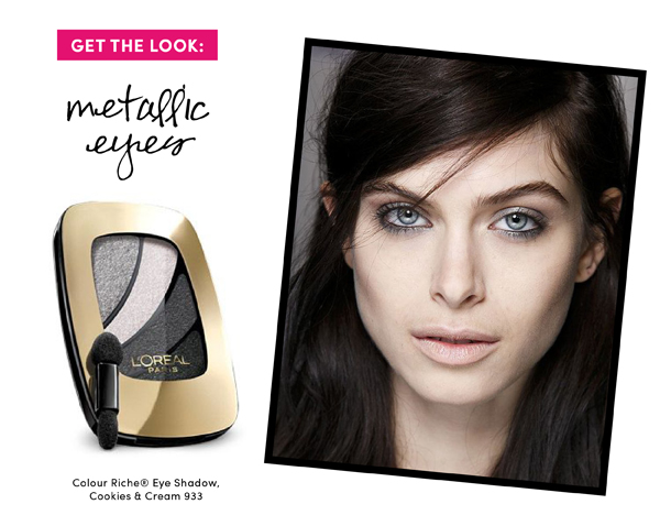 5 Fall Beauty Trends to Try: Metallic Eyes /  The Sweet Escape