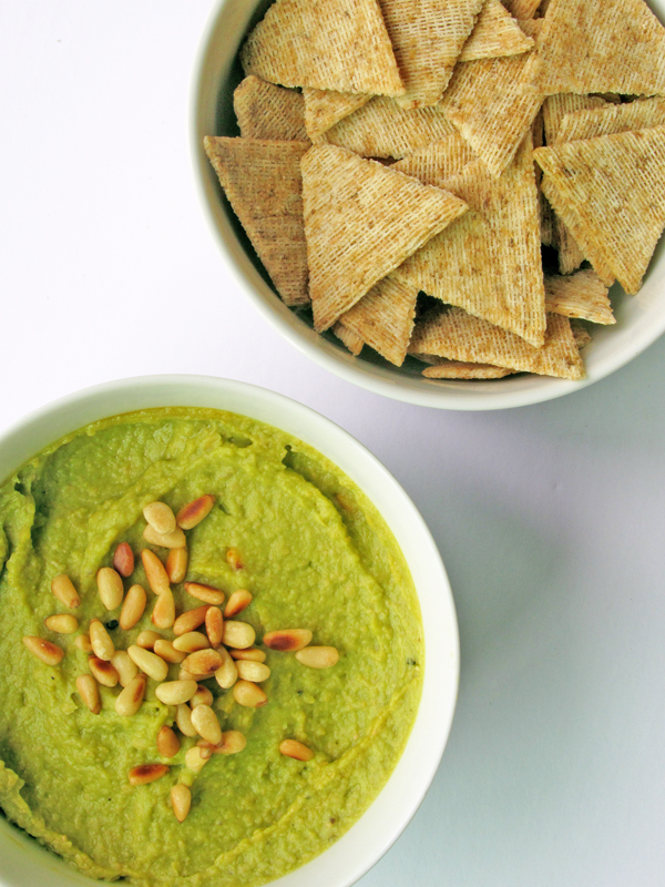 Avocado Hummus Recipe / The Sweet Escape